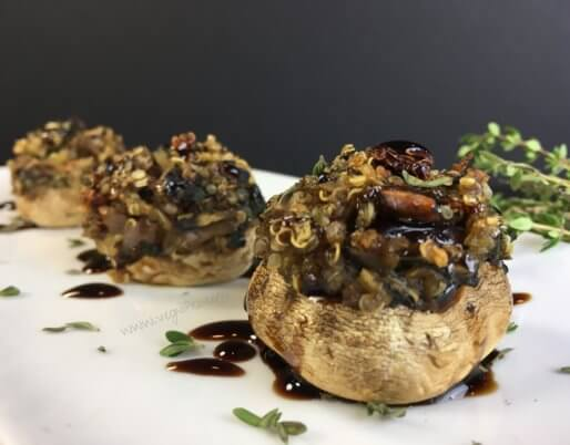 quinoa spinach stuffed mushrooms