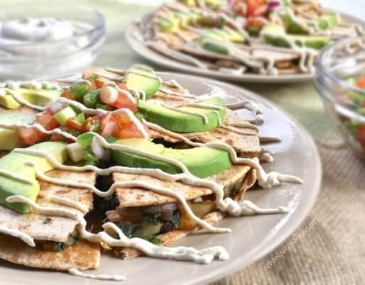 kale quesadillas