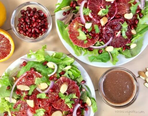 blood orange salad pomegranate vinaigrette