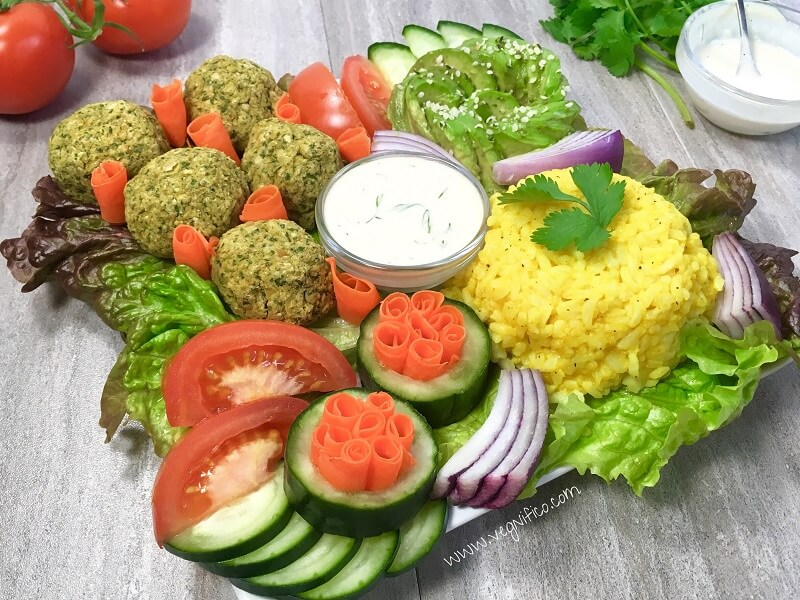 Baked Falafel with Tahini Dill Sauce - Vegan, Gluten and ...