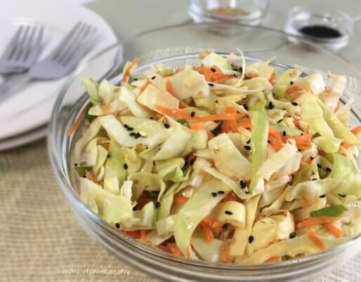 Asian sweet cabbage salad
