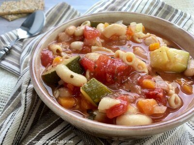 hearty vegetable pasta soup