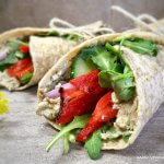 arugula roasted red pepper wraps