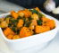 spiced sweet potato with chickpeas and spinach