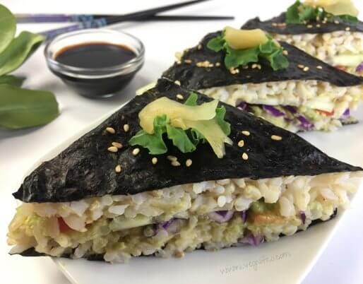 vegan sushi sandwiches